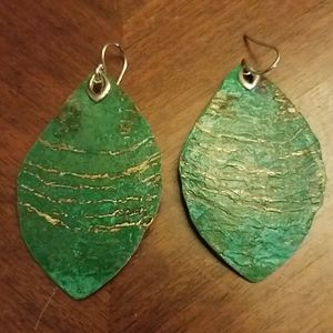 Silpada sterling and brass earrings